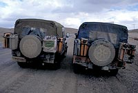 The two Land Rovers in Eastern Turkey